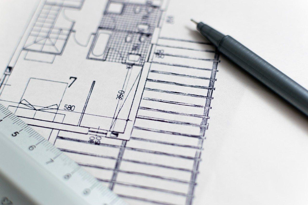 architecture blueprint floor plan 1857175
